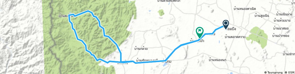 Long bike tour from จอมบึง to (null)