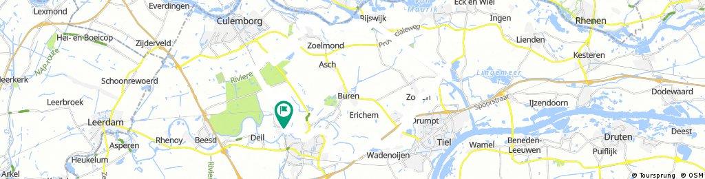 Rondje Tricht-Rijswijk-Tricht 47km