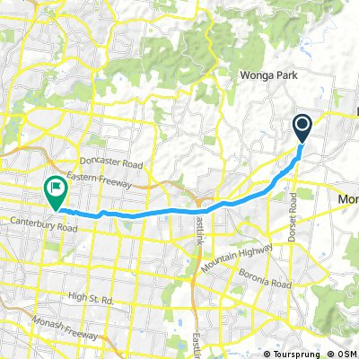 ride from Croydon to Mont Albert
