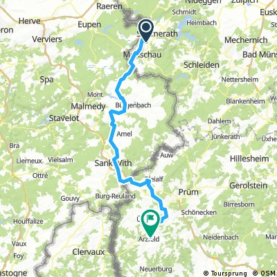 Vennbahn RAVeL-Route Monschau -