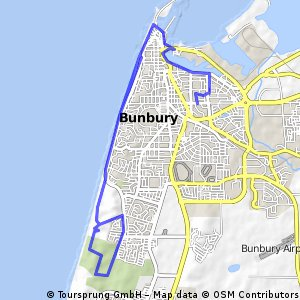 Cycling routes and bike maps in and around Bunbury Bikemap Your