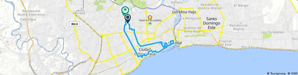 ride through Santo Domingo