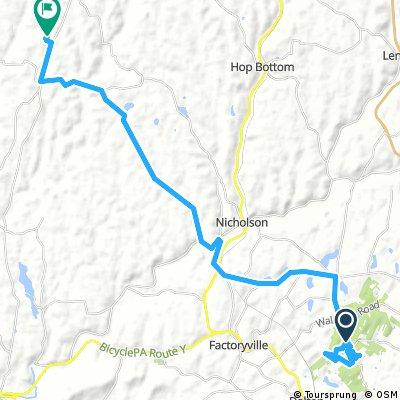Lengthy bike tour from Benton to Dimock