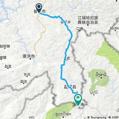 Pu'er - Mohan - Option petite route