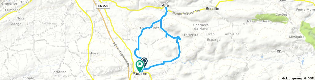 Paderne to Alte, recce by car, 15 November, 12:36