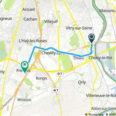 Brief ride from Vitry-sur-S. to Fresnes
