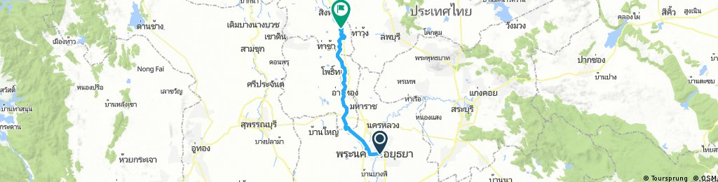 Lengthy ride from Ayutthaya to