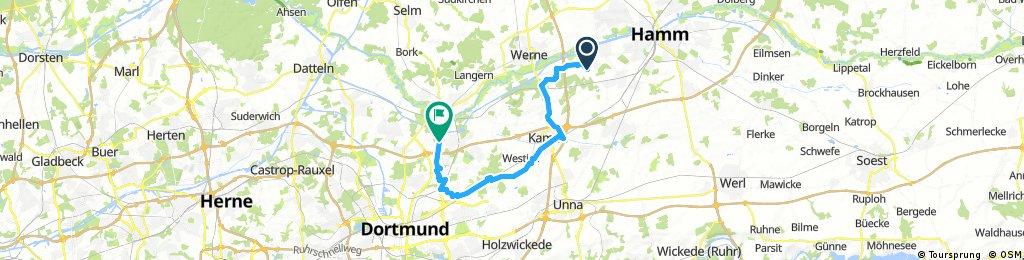 Lange Anfahrt via Reiterhof/ Kamen Süd Scharnhorst