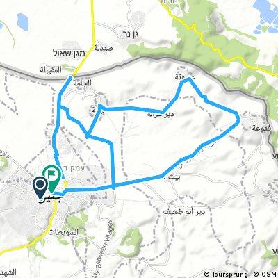 الاقتراح الثاني ليوم الجمعة  40 كم في قرى شرق جنين