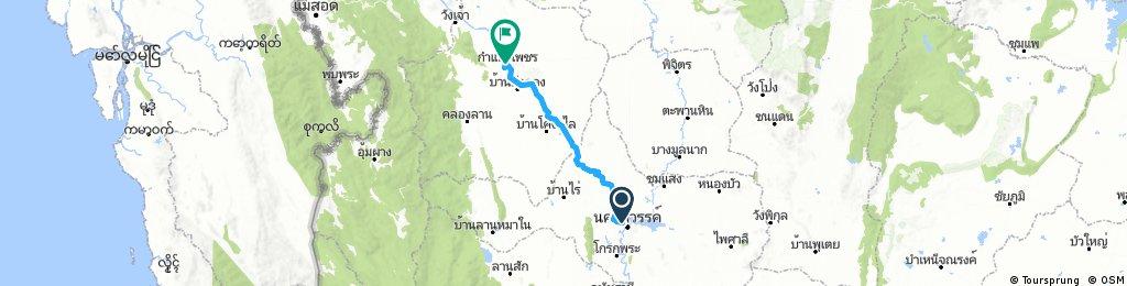 Lengthy ride through Kamphaeng Phet