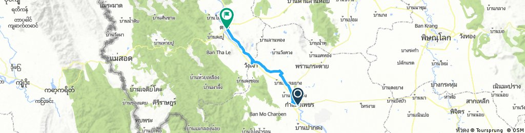 Lengthy bike tour through Tak