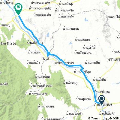 Lengthy bike tour through Tak