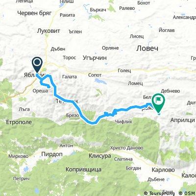 Den 1 a 2, Yablanitza, Glozhene Monaster, Teteven, Ribarica, 108 km, 1820m