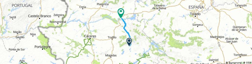 Etapa 4: Logrosán- Almaraz, 82 kms