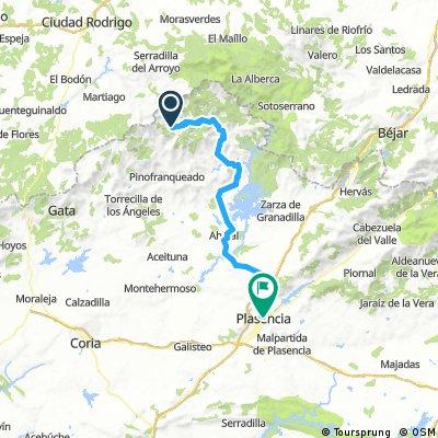 Etapa 9: El Gasco - Plasencia, 78 km