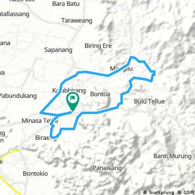 Long bike tour through Pangkajene