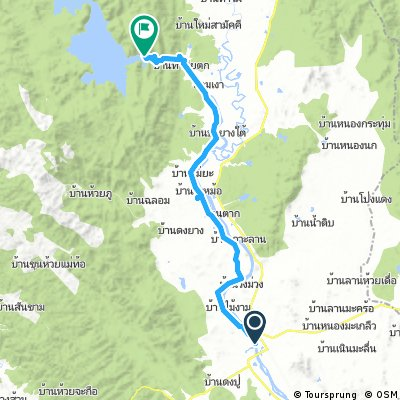 Long ride from Tak to Sam Ngao