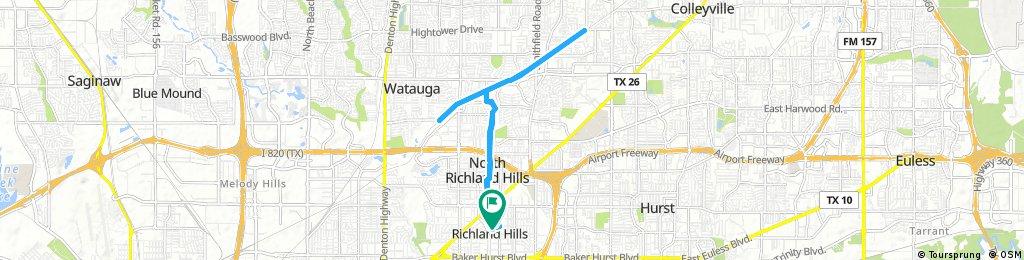 bike tour through Richland Hills