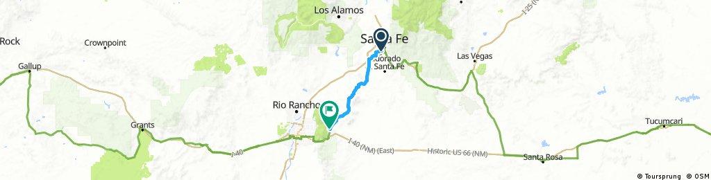 20161015 ACA Route66 Westbond Santa Fe NM - Cedar Crest NM #acaE6C2_2016