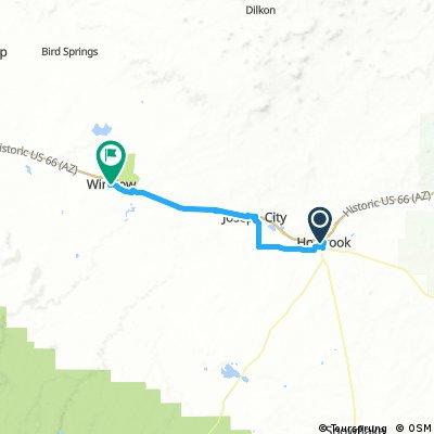 20161023 ACA Route 66 Westbound Holbrook AZ - Winslow AZ #acaE6C2_2016