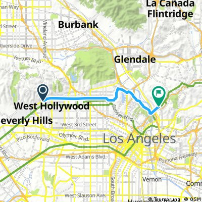 ride through Los Angeles