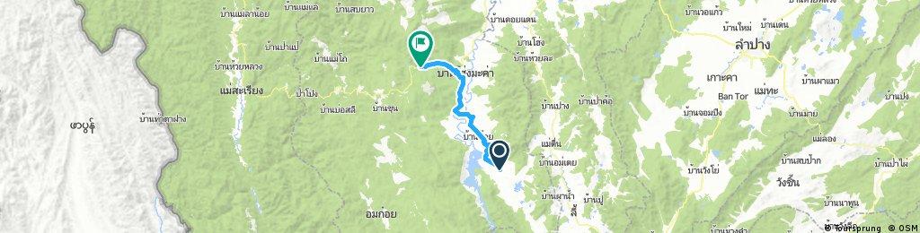 Lengthy bike tour from Ban Wang Luang to Ban Tharuea