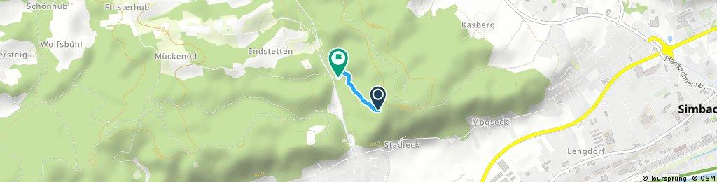 Schnelle Radrunde durch Kirchdorf am Inn