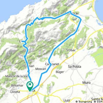 Mallorca: Inca-Selva-Caimari-Lluc-Pollença-Campanet-Inca