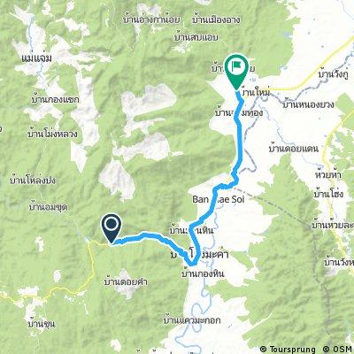 Lengthy bike tour from Ban Tharuea to Ban Phonsawan