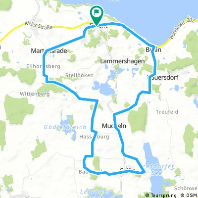 Selent-Martensrade-Sellin-Mucheln-Bellin-Lammershagen