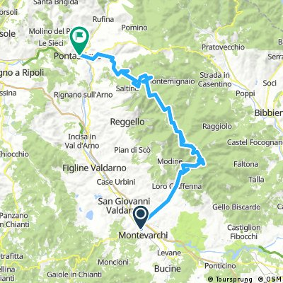 Pontassieve - Vallombrosa - Pratomagno - Montevarchi