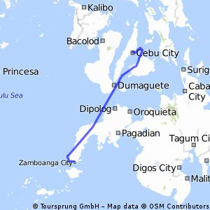 Cycling routes and bike maps in and around Zamboanga City