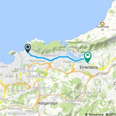 Short bike tour from San Sebastián to Lezo