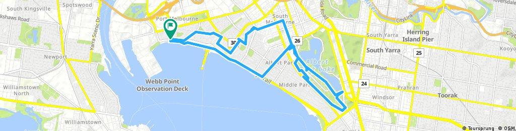 ride through Port Melbourne
