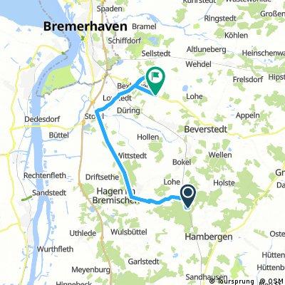 Lange Ausfahrt von Lübberstedt nach Loxstedt