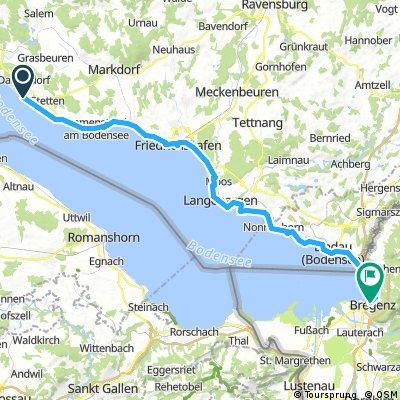 Meersburg to Bregenz - Bikeline