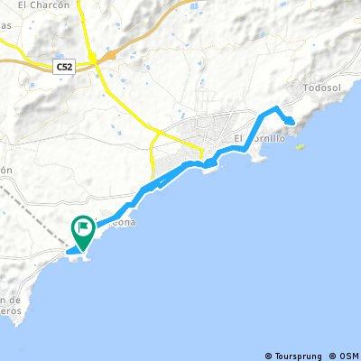 Playa Carolina-Aguilas-Berg ohne Namen und retour