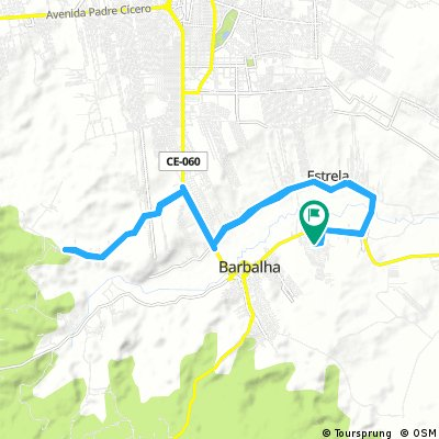 Lengthy bike tour through Barbalha