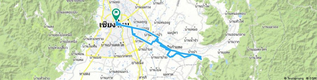 Long bike tour through Chiang Mai