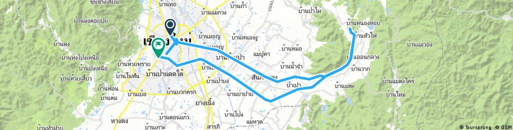 Lengthy bike tour through Chiang Mai