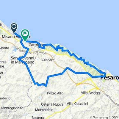 Riccione-Panoramica-Pesaro 59km