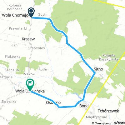 Projekt szlaku Wola Chomejowa- Wola Osowińska