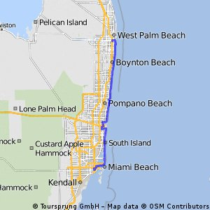 Cycling routes and bike maps in and around Miami Bikemap Your