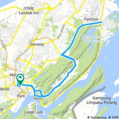 Long ride through Bandar Seri Begawan