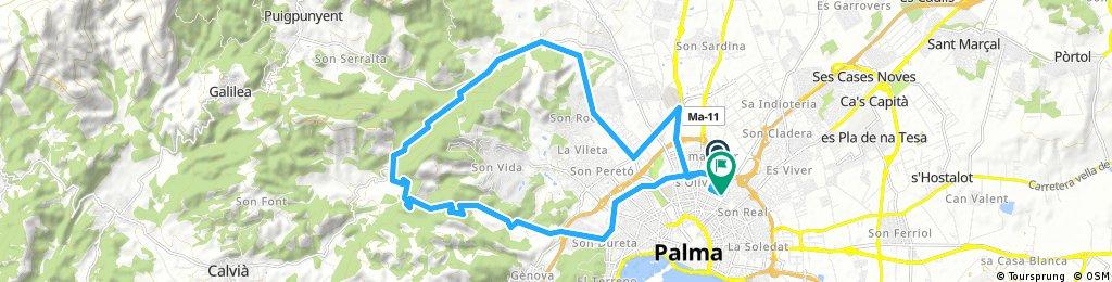 Long ride through Palma de Mallorca