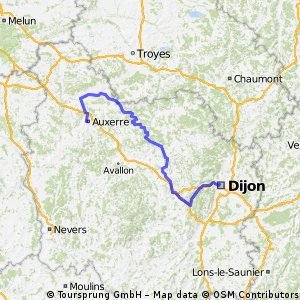 Cycling routes and bike maps in and around Dijon Bikemap Your