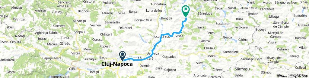 Cluj-Napoca- Apahida-Jucu de sus-Visea-Coasta-Sic