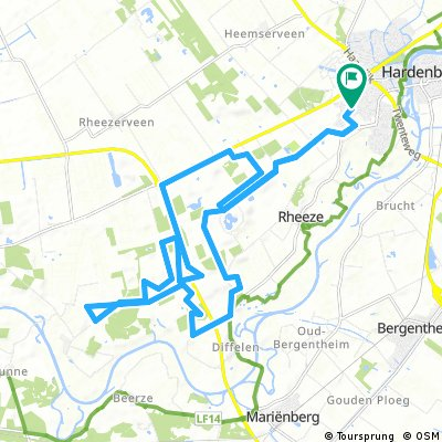 Hardenberg route incl. new part