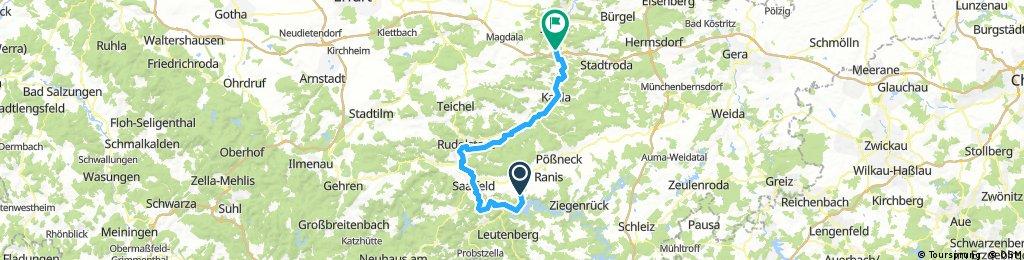 Hohenwarte/Bucha - Jena/Göschwitz