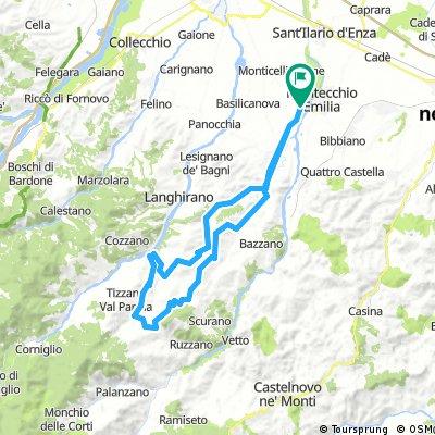 Montechiarugolo - Urzano - Lagrimone - Neviano degli Arduini - Montechiarugolo (colline parmensi)